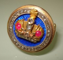 Antique Russian gold enamel ring.