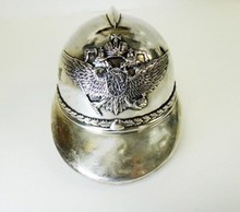 HUGE RUSSIAN IMPERIAL SILVER HELMET