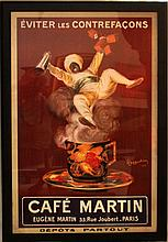 LEONETTO CAPPIELO LARGE CAFE MARTIN LARGE POSTER