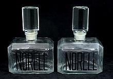 PAIR OF GLASS NORELL FACTICE PERFUME BOTTLES
