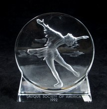 LALIQUE FIGURE SKATER SOCIETY OF AMERICA 1992