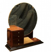 1930's FRENCH ROSEWOOD VANITY MIRROR SET