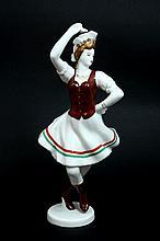 HOLLOHOZA HAND PAINTED FOLK DANCER FIGURINE #1831