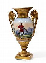 19TH CENTURY PARIS PORCELAIN GILT URN