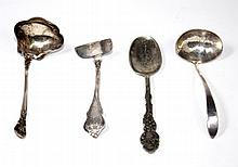 4 STERLING SILVER ASSORTED SPOONS