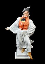 HEREND PORCELAIN DANCING PEASANT MAN # 5491