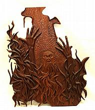 RABINOWITZ MOSES WOOD CARVING