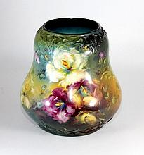 LARGE ROYAL BONN GERMANY PORCELAIN FLORAL VASE