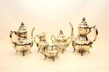 REED & BARTON 5 PC STERLING TEA SET BRADFORD