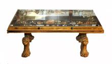 ART DECO HOLLYWOOD REGENCY REVERSE COFFEE TABLE