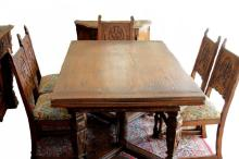 1920'S 10PC SPANISH DINING ROOM SET