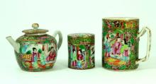 3 ANTIQUE CHINESE FAMILLE ROSE PORCELAIN ITEMS