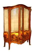 19TH LOUIS 15TH STYLE VERNIS MARTIN CURIO CABINET