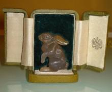 RUSSIAN HAND CARVED FIGURAL RABBIT