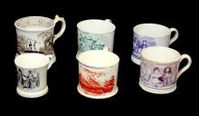 6 ANTIQUE PORCELAIIN ENGLISH CUPS