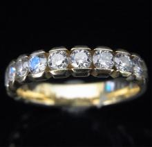 1 carat Diamonds & 18k Yellow Gold eternity ring