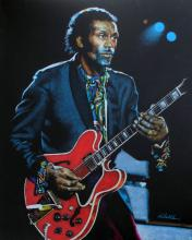 ROBERT KORHONEN DRAWING OF CHUCK BERRY