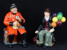 2 ROYAL DOULTON FIGS 'THE BALLOON MAN' 'PAST GLORY