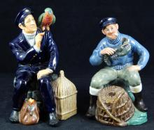 2 DOULTON FIGURES 'THE LOBSTER MAN' 'SHORE LEAVE'