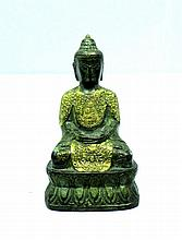 CHINESE19TH CENTURY BRONZE BUDDHA MING MARK