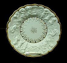 CAPODIMONTE RAISED FIGURAL PORCELAIN PLATE