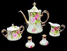 LEFTON CHINA HAND PAINTED COFFEE SET