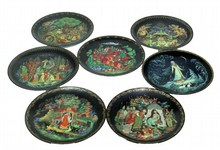 7 RUSSIAN LEGEND COLLECTOR PLATES