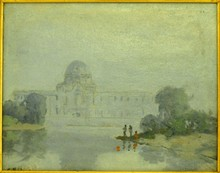 C. PACTONI OIL ON CANVAS CAPITAL BUILDING