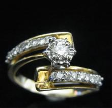 14k White Yellow Gold Ring