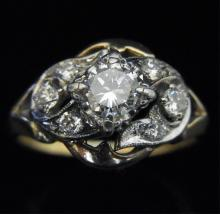 14k Yellow White Gold Ring