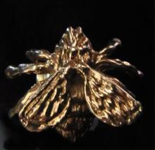 14k Yellow Gold Tie Tack Fly