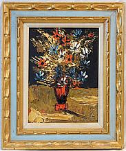 MORRIS KATZ STILL LIFE OIL PAINTING ON BOARD 1997