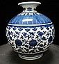 CHINESE PORCELAIN BLUE & WHITE QINGLONG VASE