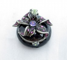 JAY STRONGWATER PORCELAIN JEWELED PILL BOX