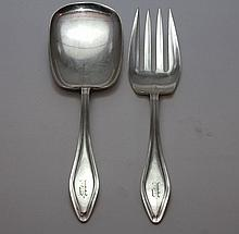 TOWLE MARY CHILTON STERLING SALAD SERVING SET