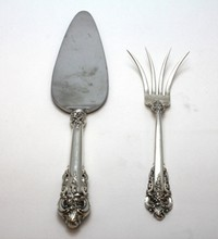 2 WALLACE GRANDE BAROQUE STERLING SERVING ITEMS