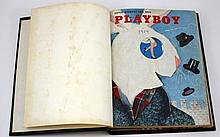 EARLY FULL PLAYBOY 1954 MAGAZINES BOUND IN BOOK