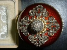 RUSSIAN SILVER ENAMEL ROCK CRYSTAL BOX