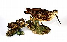 2 TAY ITALIAN CERAMIC BIRD FIGURINES