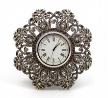 JAY STRONGWATER JEWELED DESK CLOCK