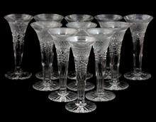 11 WILLIAM YEOWARD CRYSTAL CHAMPAGNE FLUTES