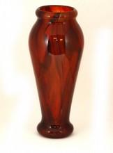 SCHNEIDER FRANCE AMBER ART GLASS VASE