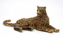 JAY STRONGWATER ENAMELED & JEWELED LEOPARD