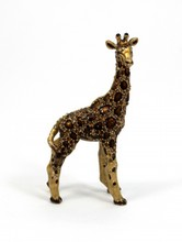 JAY STRONGWATER ENAMELED JEWELED GIRAFFE FIGURE