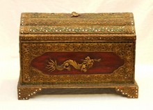 THAI 20th CENTURY JEWELED HINGED BOX