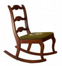 STATESVILLE CHAIR CO VINTAGE WOODEN ROCKING CHAIR
