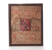 18th/19th century Indian Textile with figure. Fine Indian Textile with a figure