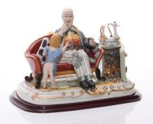 A rare Capodimonte Deposee, Italian porcelain depicting