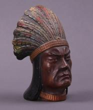 Early 1900's Native American pepper shaker. (Size: See last photo for measurement.)