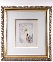 Salvador Dali (1904-1989), Divine Comedy Heaven Canto 13 Christ's Apparition